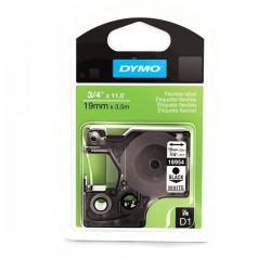Dymo taśma do drukarek etykiet, D1 16957 | 12mm x 3.5m | czarny/biały | NYLONOWA