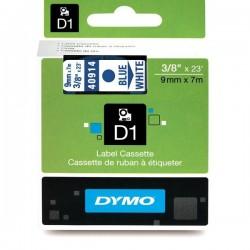 Dymo taśma do drukarek etykiet, D1 40913 | 9mm x 7m | czarny / biały