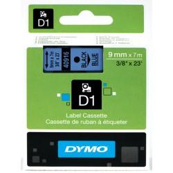 Dymo taśma do drukarek etykiet, D1 40915 | 9mm x 7m | czerwony / biały