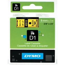 Dymo taśma do drukarek etykiet, D1 40916 | 9mm x 7m | czarny / niebieski